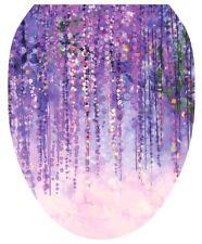 Tt Toilet Tattoos Purple Rain Vinyl Removable Lid Cover Round Standard