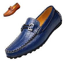 Comfy Men Slip On Dress Formal Soft Leather Shoes Loafers Moccasins Work Driving