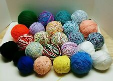 Red Heart and Other Brands Yarn lot Of 25 Balls In Assorted Colors