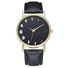 NEW Moon Phases Space Lunar Leather quartz watch Fashion Gift Unisex Wrist Watch