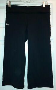 Women's Under Armour All Season Gear Black Cropped Capri Active Pants S