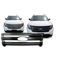 Black Trim / Grille Overlay for 2011 2012 2013 2014 2015 Ford Explorer