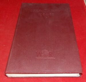 World Railways 1954-55 --- Edited by Henry Sampson
