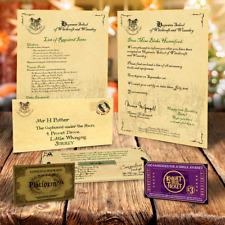 Hogwarts Buchstabe - personalisiert Harry Potter Geschenk + gratis EXPRESS