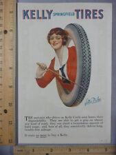 Rare Original VTG 1923 Kelly Tires Murad Turkish Cigarette Advertising Art Print