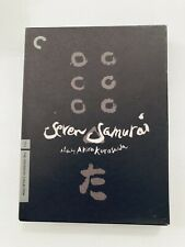 New listing Seven Samurai (Criterion Collection) Dvd Akira Kurosawa Dir 1954 Three Disc Set