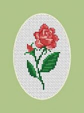 Rose Flower Cross Stitch Kit - Luca S - Beginner 5cm x 9cm