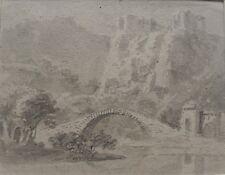 LADY LAVINIA GORDON ANCIENT BRIDGE BELOW CASTLE C1820