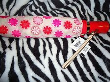 Coach Multicolor Pink Floral Print Nylon Folding Umbrella #67843--New--$88