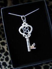 925 SOLID STERLING SILVER LARGE 18TH BIRTHDAY KEY NECKLACE CHARM PRESENT CHAIN