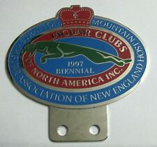 CAR BADGE - JAGUAR CLUB OF NORTH AMERICA GRILL BADGE EMBLEM LOGOS METAL CAR GRIL