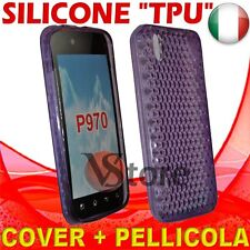 Cover Custodia Gel TPU Viola Per LG P970 Optimus Black silicone