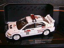 MITSUBISHI LANCER EVO VII #00 RALLY JAPAN 2010 SAFETY CAR IXO RAM444 1/43 DUNLOP