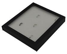 Alta CALIDAD Caja de Madera de 36 Anillo Pantalla con almohadilla desmontable blanco y tapa magnética
