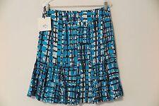 NWT Jana Kos Turquoise Black & White Amalfi Flare-Bottom Skirt Size 8 MSRP $295