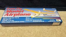 "Vintage HFT Free Fly Model Airplane Foam Battery Powered Plane 23"" Wing Span"