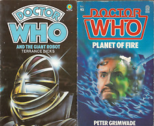 2 Doctor Who ~ Target Pbs ~and The Giant Robot + Planet of Fire ~ Dicks Grimwade