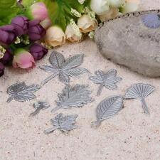 8 Metal Leaves Cutting Dies Cut Stencils Scrapbooking Album Embossing Craft DIY