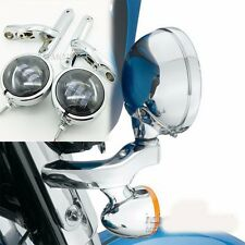 "4.5"" LED motorcycle fog lights harley touring street glide passing light road gl"