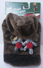 Puppy Dog Costume Reindeer Hoodie Clothing Brown Sparkle Coat XS