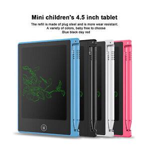"""4.5"""" Digital LCD Writing Pad Tablet Drawing Graphics Board Notepad Kid A3GU"""