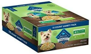 Blue Buffalo Delights Natural Adult Small Breed Wet Dog Food Cups Variety Pack,