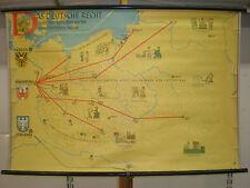 Schulwandkarte Wandkarte Das Deutsche Recht Stadtrecht im Osten Lippa 117x80cm