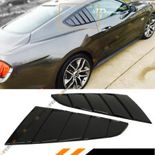 For 15-2020 Ford Mustang Glossy Black Side Vent Window 1/4 Quarter Scoop Louver