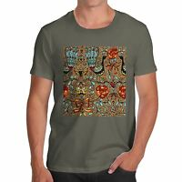 Men's Premium Cotton Peacock Pattern Design T-Shirt