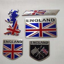 5PCS Metal Emblem Badge Decal Car Fender Side Logo Sticker United Kingdom Flag