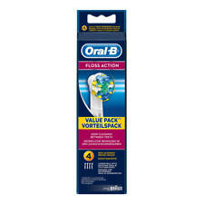 Braun Oral B FLOSS ACTION Replacement Electric Toothbrush Heads 4 NEW!!