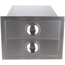 Premium Outdoor Kitchen BBQ Island Double Drawer Stainless Steel Made USA