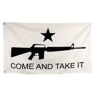 Come and Take It Flag Texas Banner Gun Star M4 USA SHIPPING 3 X 5 Ft RA#