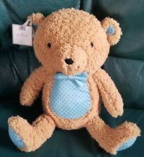 "Hallmark Teddy Bear Plush brown 13"" Soft Toy Brown, blue w/ spots Bow Tie. *Nwt"