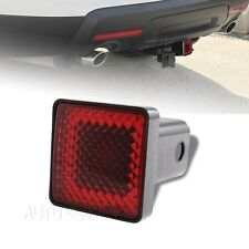 "Red Lens Trailer Tow Hitch Cover Brake Light For 2"" Receiver 2 Prong Plug"
