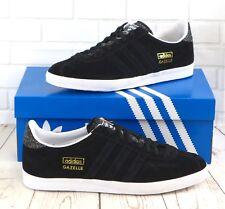 Adidas Gazelle Og B35199 Gamuza Negra Para Hombre Zapatillas Uk Size 8