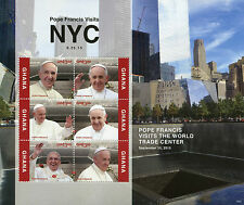 Ghana 2015 MNH Pope Francis Visits NYC 6v M/S Popes World Trade Center Stamps