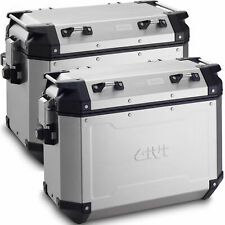 Givi TREKKER OUTBACK Aluminium Motorcycle PANNIERS 37 + 48 SIDE CASES OBK3748A