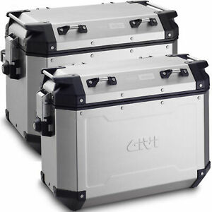 Givi TREKKER OUTBACK Motorcycle PANNIERS 37 left + 48 right SIDE CASES OBKN3748A