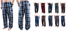Mens Pajama Pants Fleece Soft Plaid Casual Lounge Sleep Bottoms with Pockets