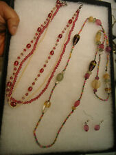 Vintage mix color glass jewelry lot