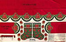 Poinsettia Mantel Scarf & Stocking & Appliques - V.I.P. - Cranston