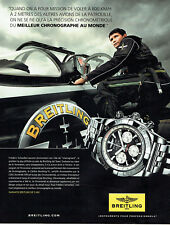 publicité Advertising 117  2012  montre Breitling Jet Team chrono F. Schwebel