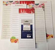 Super Value Magnetic Shopping List Pads 6 Pads 5093