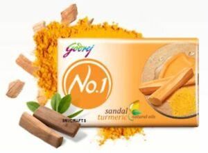 NEW Godrej No.1 Sandal Turmeric Soap Anti-Blemishing Natural Oils Anti-Septic