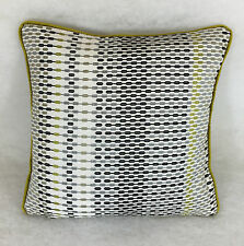 """Harlequin Array 130740 Lime Onyx & Charcoal Cushion Cover 16""""x16""""  Piped"""