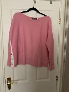 Mint Velvet Jumper Pink XL Button Detail