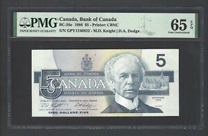Canada 5 Dollars 1986 BC-56e Uncirculated Graded 65