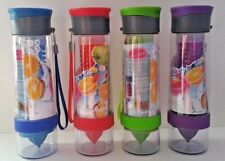 Fruit Infusion Sports Water Bottle Health Maker Infuser with Flip Dual Action