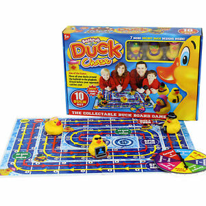 Bathtime Duck Chase Board Game Family fun Kids Play Time with 10 Rubber Ducks